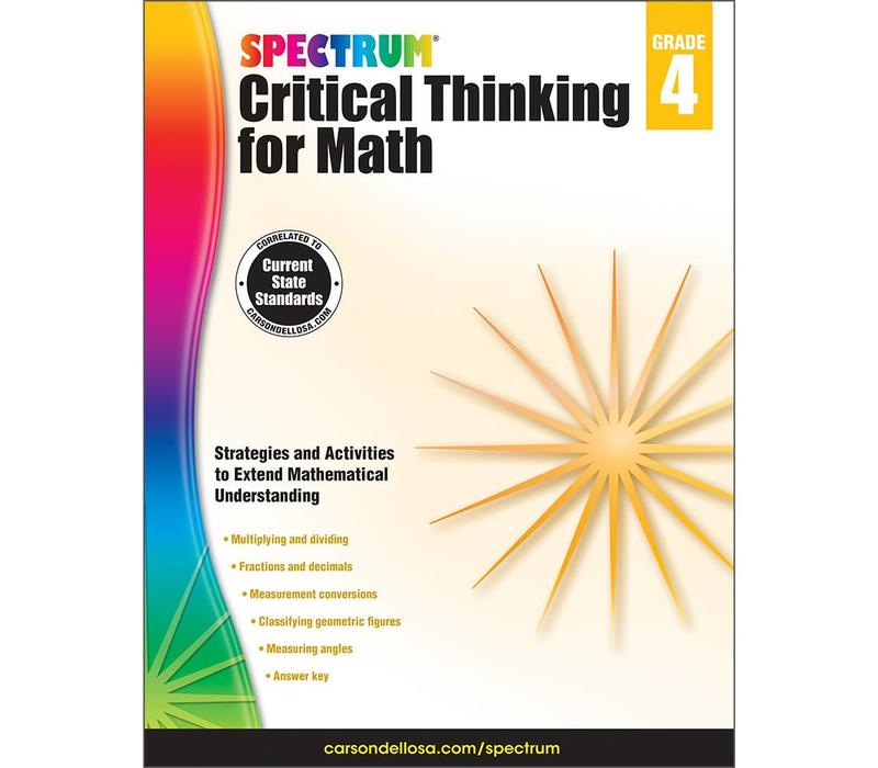 Spectrum Critical Thinking for Math, Grade 4
