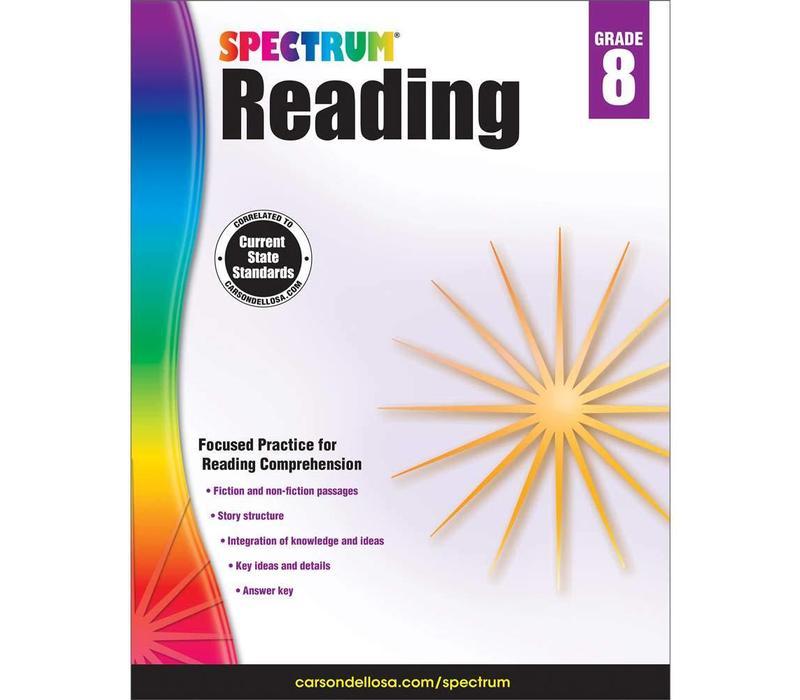 Spectrum Reading Workbook, Grade 8 *