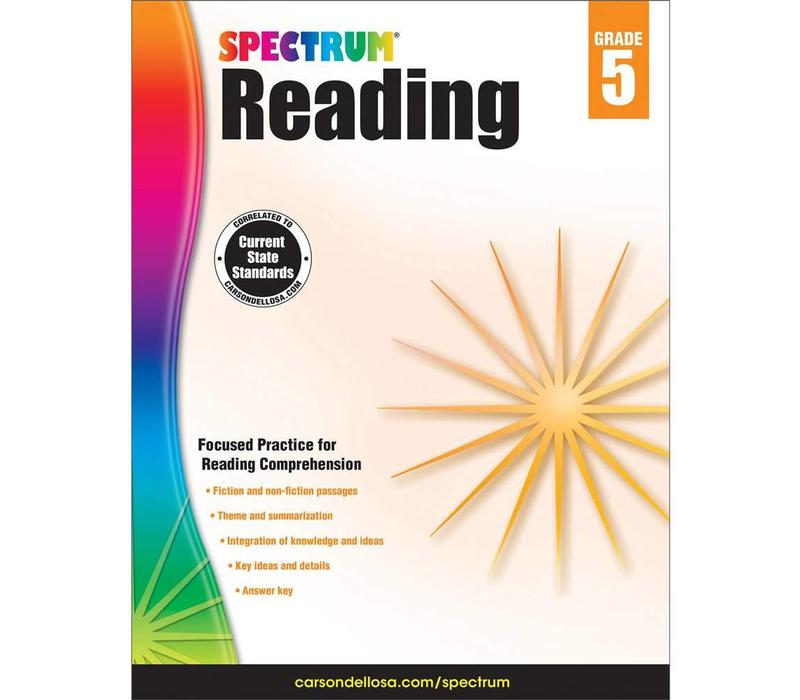 Spectrum Reading Workbook, Grade 5 *
