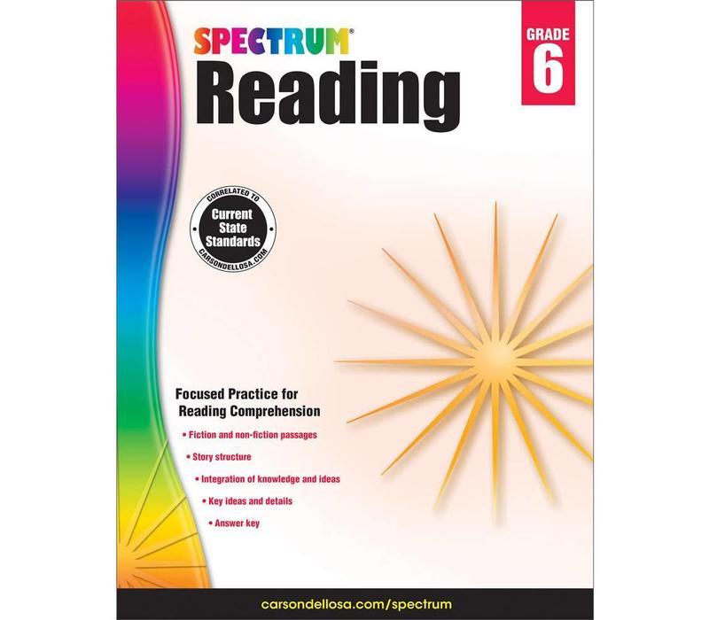 Spectrum Reading Workbook, Grade 6 *
