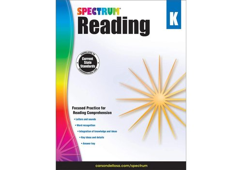 Carson Dellosa Spectrum Reading Workbook, Grade K