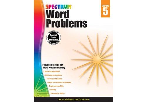 Carson Dellosa Spectrum Word Problems, Grade 5 *