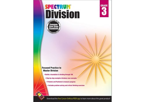 Carson Dellosa Spectrum Division Workbook, Grade 3