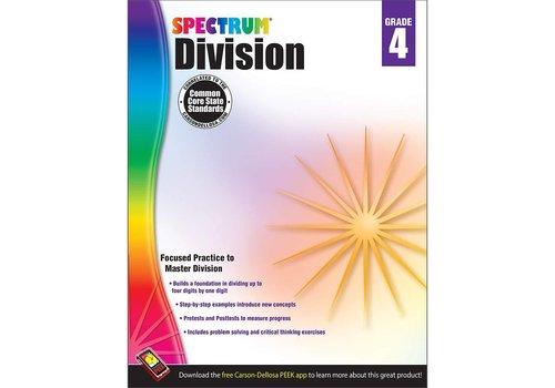 Carson Dellosa Spectrum Division Workbook, Grade 4