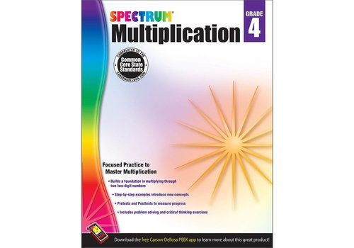 Carson Dellosa Spectrum Multiplication Workbook, Grade 4