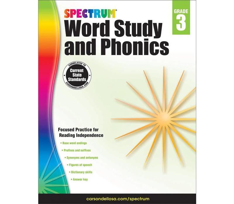 Spectrum Word Study and Phonics, Grade 3 *