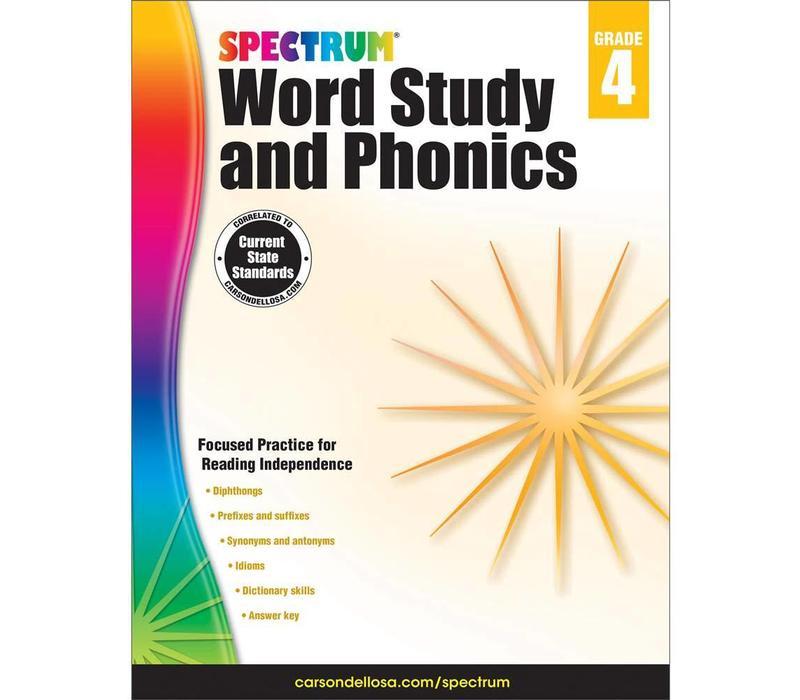 Spectrum Word Study and Phonics, Grade 4 *
