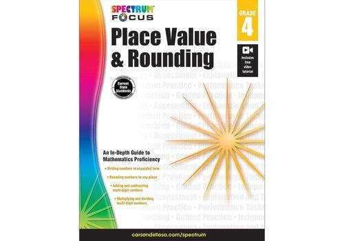 Carson Dellosa Place Value & Rounding, Grade 4 Spectrum