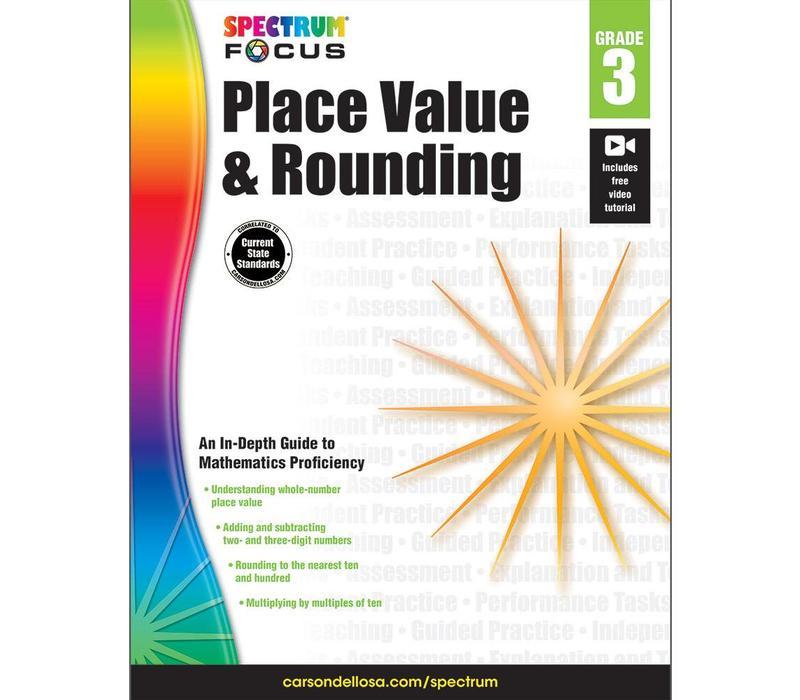 Spectrum Place Value & Rounding, Grade  3