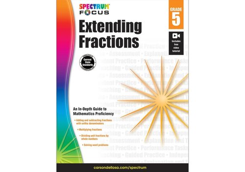 Carson Dellosa Extending Fractions, Grade 5 Spectrum