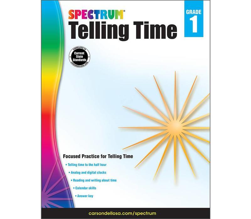 Spectrum Telling Time, Grade 1 *