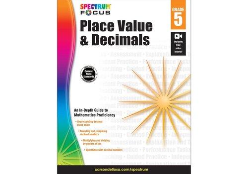 Carson Dellosa Place Value & Decimals, Grade 5 Spectrum