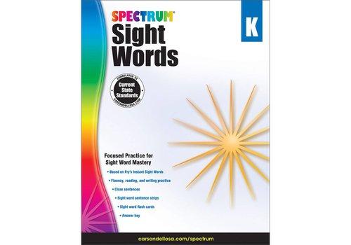 Carson Dellosa Spectrum Sight Words, K
