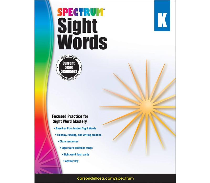 Spectrum Sight Words, K