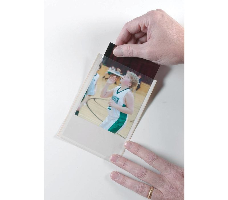 Clear View Self-Adhesive Photo/Index Card Pockets 25/PK *