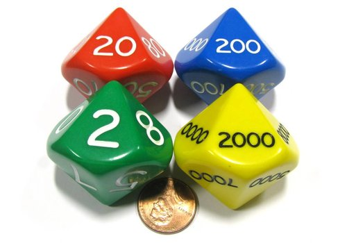 Koplow Place Value Dice-Set of 4