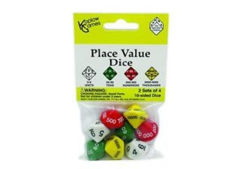 Koplow Place Value Dice-Set of 8