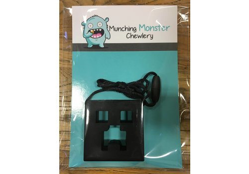 Munching Monster MINECRAFT CHEWLERY PENDANT BLACK