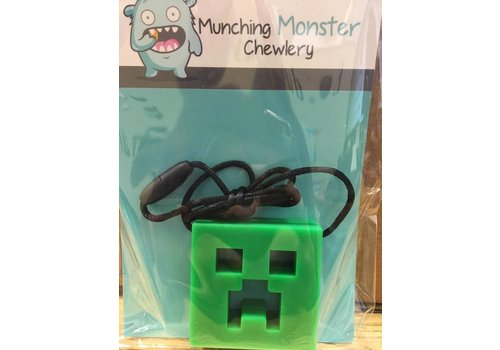 Munching Monster MINECRAFT CHEWLERY PENDANT- GREEN