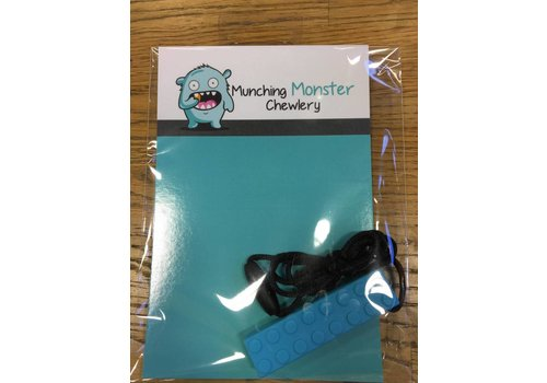 Munching Monster Lego Pendant Chewlery - Lt. Blue