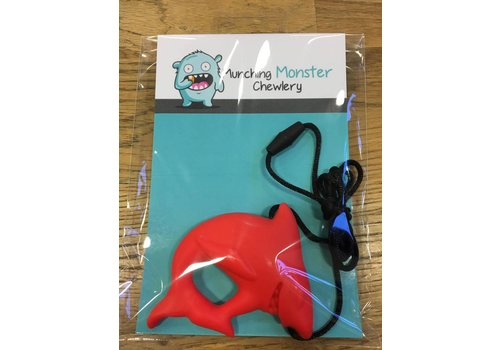 Munching Monster Shark Pendant Chewlery - Red