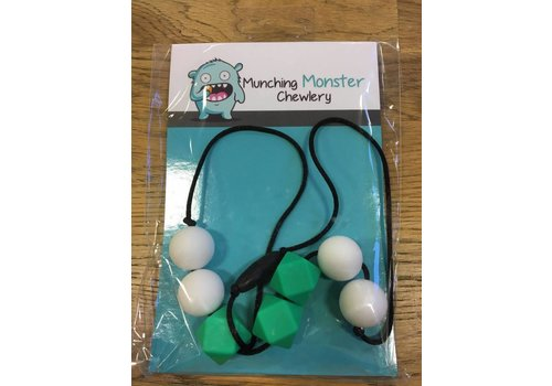 Munching Monster Hexagon Necklace Chewlery- assorted colours