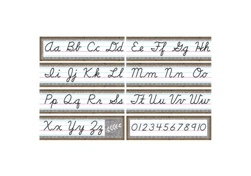 Teacher Created Resources Home Sweet Classroom -Cursive Alphabet Line