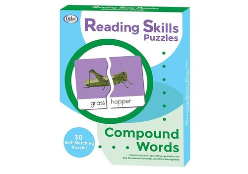 Didax Reading Skills Puzzles - Compound Words