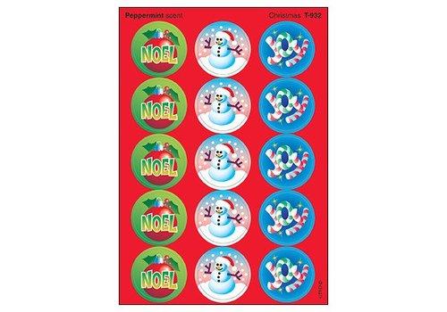 Trend Enterprises Christmas/Peppermint Stinky Stickers