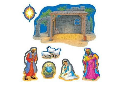 Trend Enterprises Nativity Bulletin Board Set