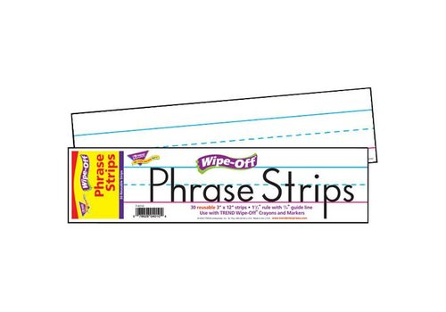"Trend Enterprises 12"" White Wipe Off Phrase Strips"