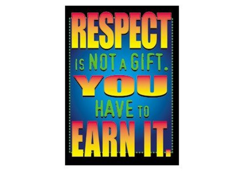Trend Enterprises Respect is not a Gift... Poster