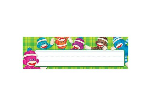 Trend Enterprises Sock Monkeys Nameplates