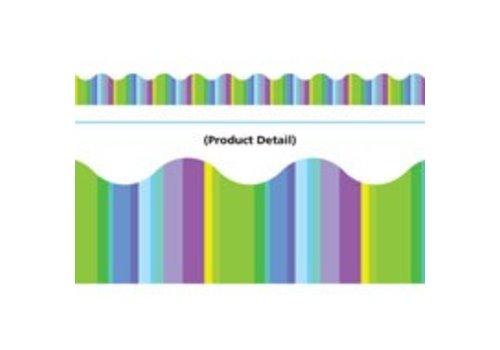 Trend Enterprises Cool Stripes Scalloped Border