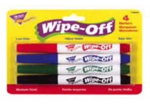 Trend Enterprises Wipe Off Markers 4-Pack Standard Colors