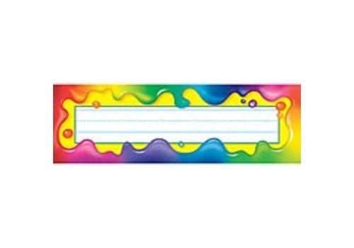 Trend Enterprises Rainbow Gel Nameplates