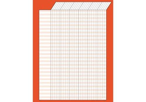 Trend Enterprises Red Vertical Incentive Chart-single