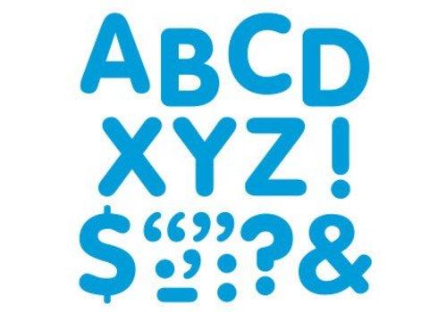 Trend Enterprises Stick-eze Stick on Letters Blue 2 inch *