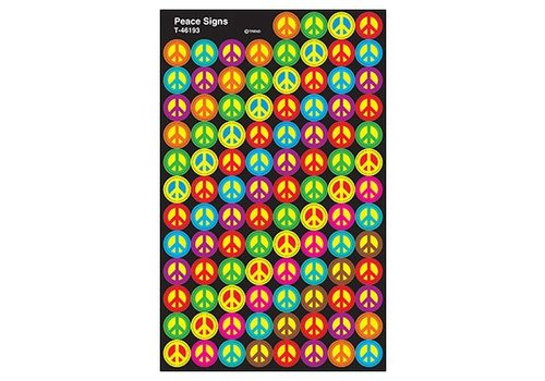 Trend Enterprises Peace Signs Super Spot Stickers