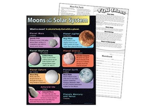 Trend Enterprises Moons of Our Solar System Poster