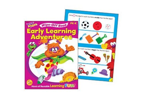 Trend Enterprises Early Learning Adventures Wipe-Off Book