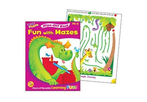 Trend Enterprises Fun with Mazes Wipe-Off Book *