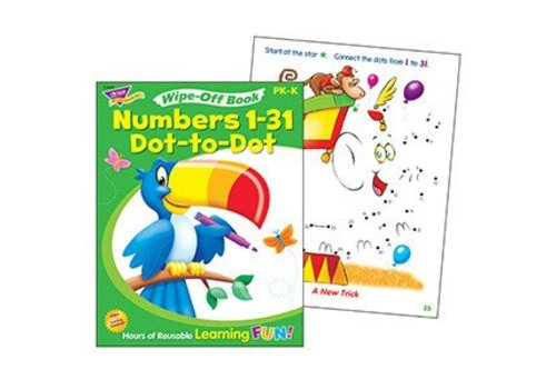 Trend Enterprises Numbers 1-31 Dot-to-Dot Wipe-Off Book