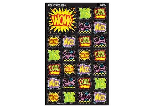 Trend Enterprises Cheerful Words Stickers