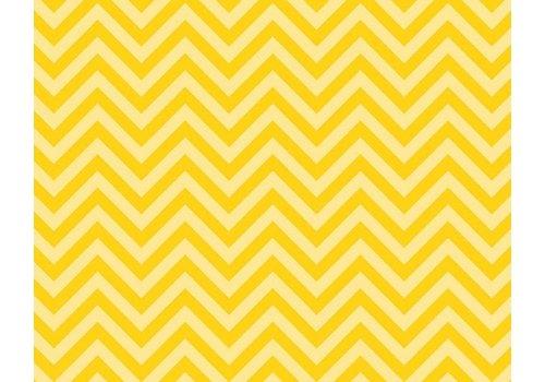 PACON Fadeless Paper 4ft x 12 ft - Chic Chevron Yellow