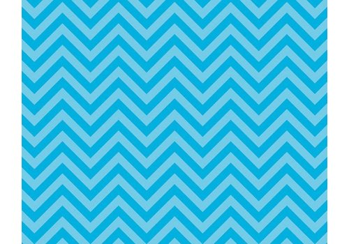PACON Fadeless Paper 4ft x 12 ft - Chic Chevron Aqua