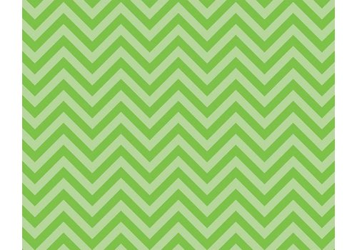 PACON Fadeless Paper 4ft x 12 ft - Chic Chevron Lime Green