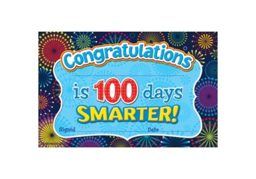 Teacher Created Resources Congratulations! 100 Days Smarter Award