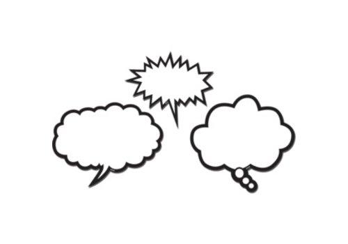 Teacher Created Resources Black & White Speech Bubbles Magnetic Accents