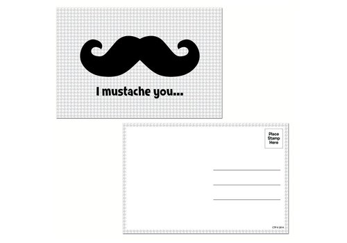 Creative Teaching Press I Mustache You Postcards